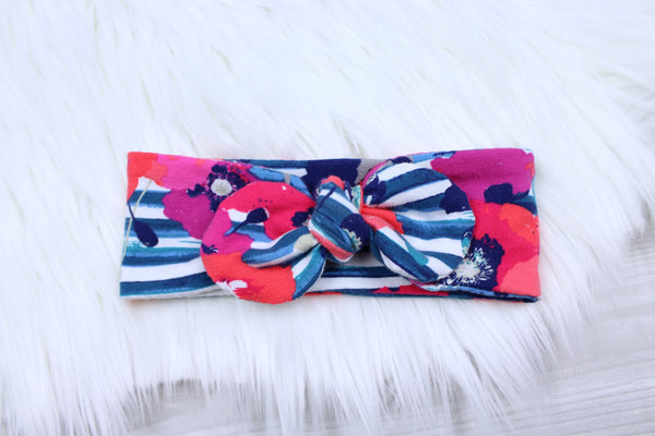 Poppies and Stripes Swaddle Set