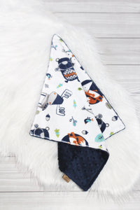 Woodland Animals/Navy Lovey
