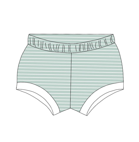 Dusty Teal Striped Shorties