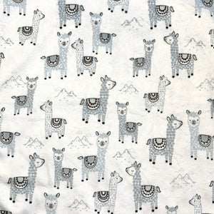 Alpaca Llamas Minky Crib Sheet or Changing Pad Cover