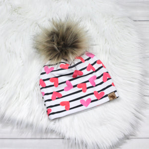 Hearts and Stripes Beanie