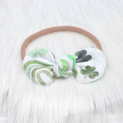 Rainbows and Shamrocks Mini Knot Headband