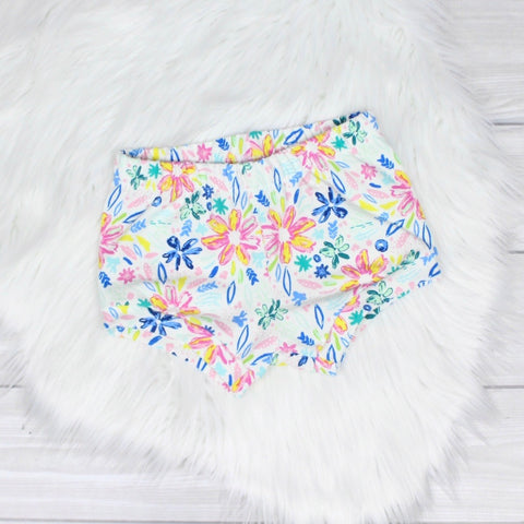 Bright Floral Shorties