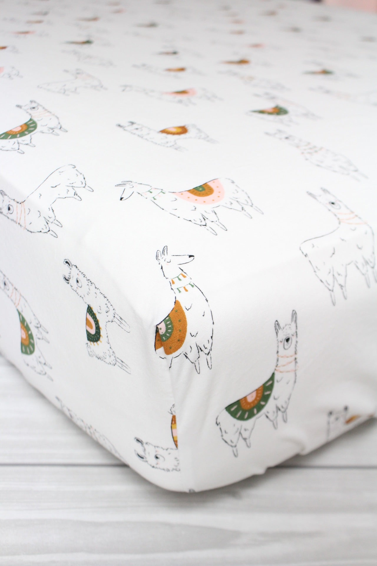 Llama Crib Sheet or Changing Pad Cover