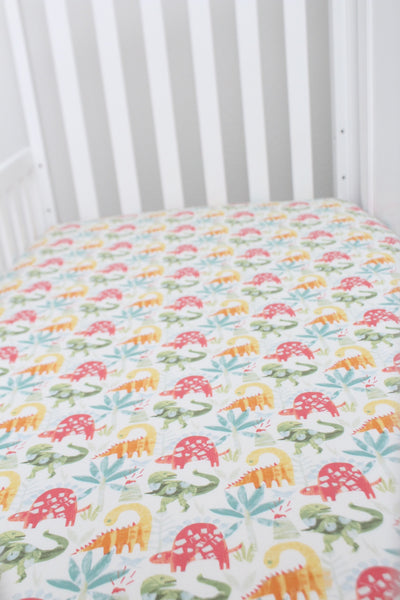 Roar Dinosaurs Crib Sheet or Changing Pad Cover
