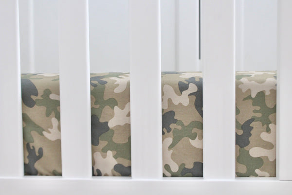 Camo Crib Sheet or Changing Pad Cover