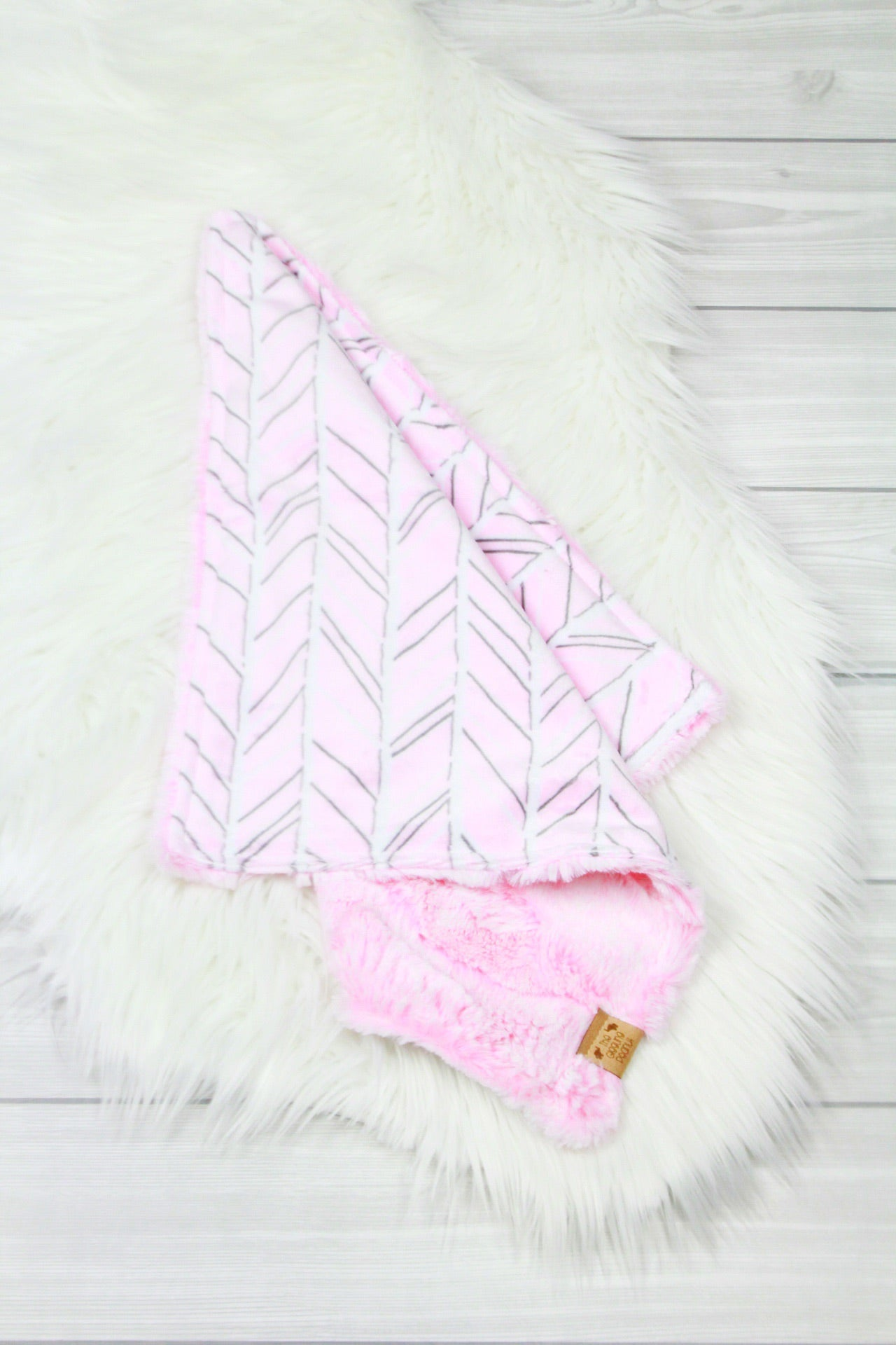 Pink Herringbone/Cotton Candy Lovey