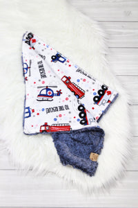 Emergency Vehicles/Chambray Lovey
