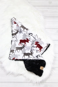 Buffalo Plaid Moose/Black Lovey