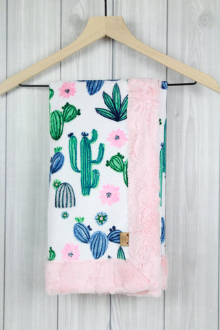 Cactus/Shell Infant Minky Blanket