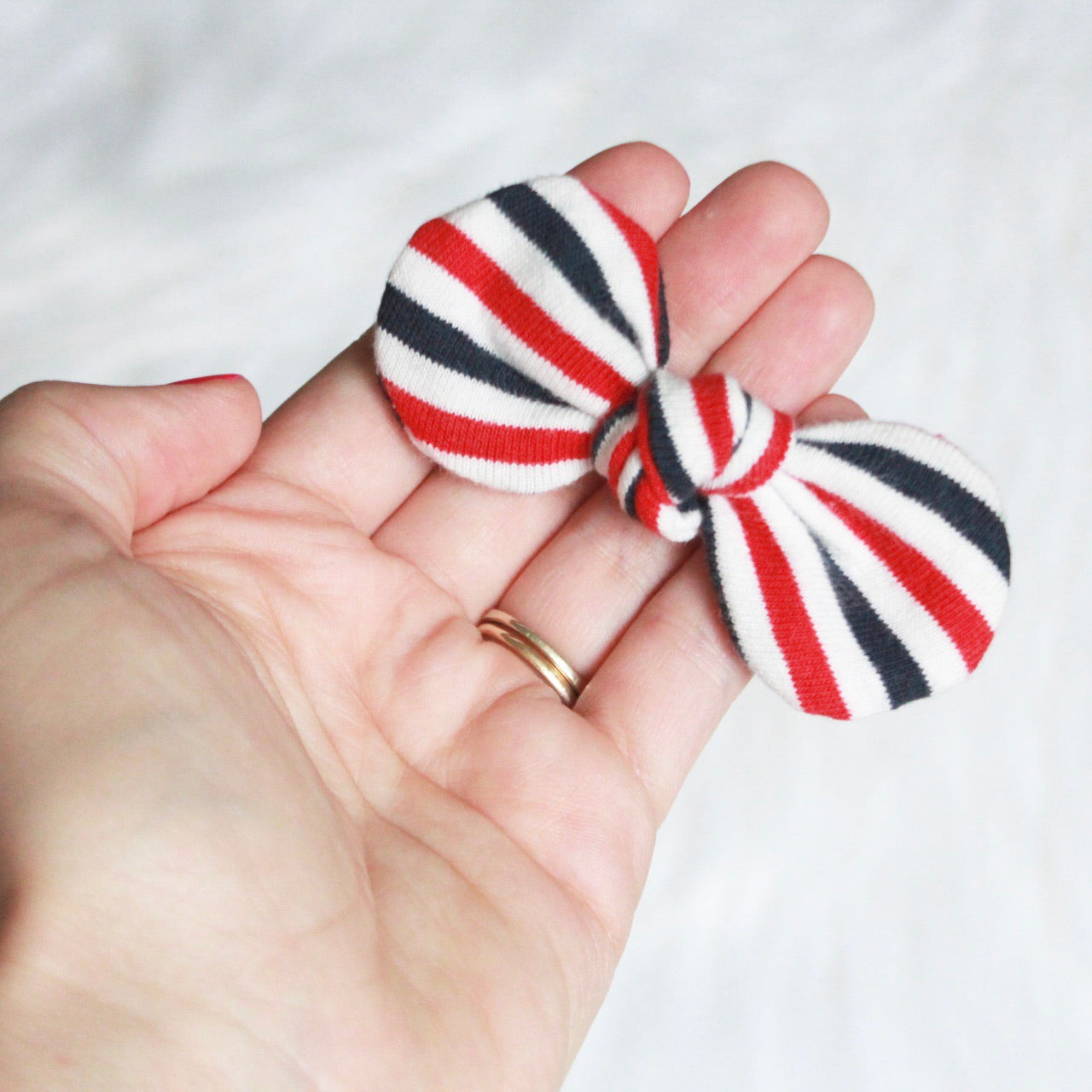 Red White and Blue Stripes Mini Knot Headband
