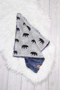 Bears/Chambray Lovey