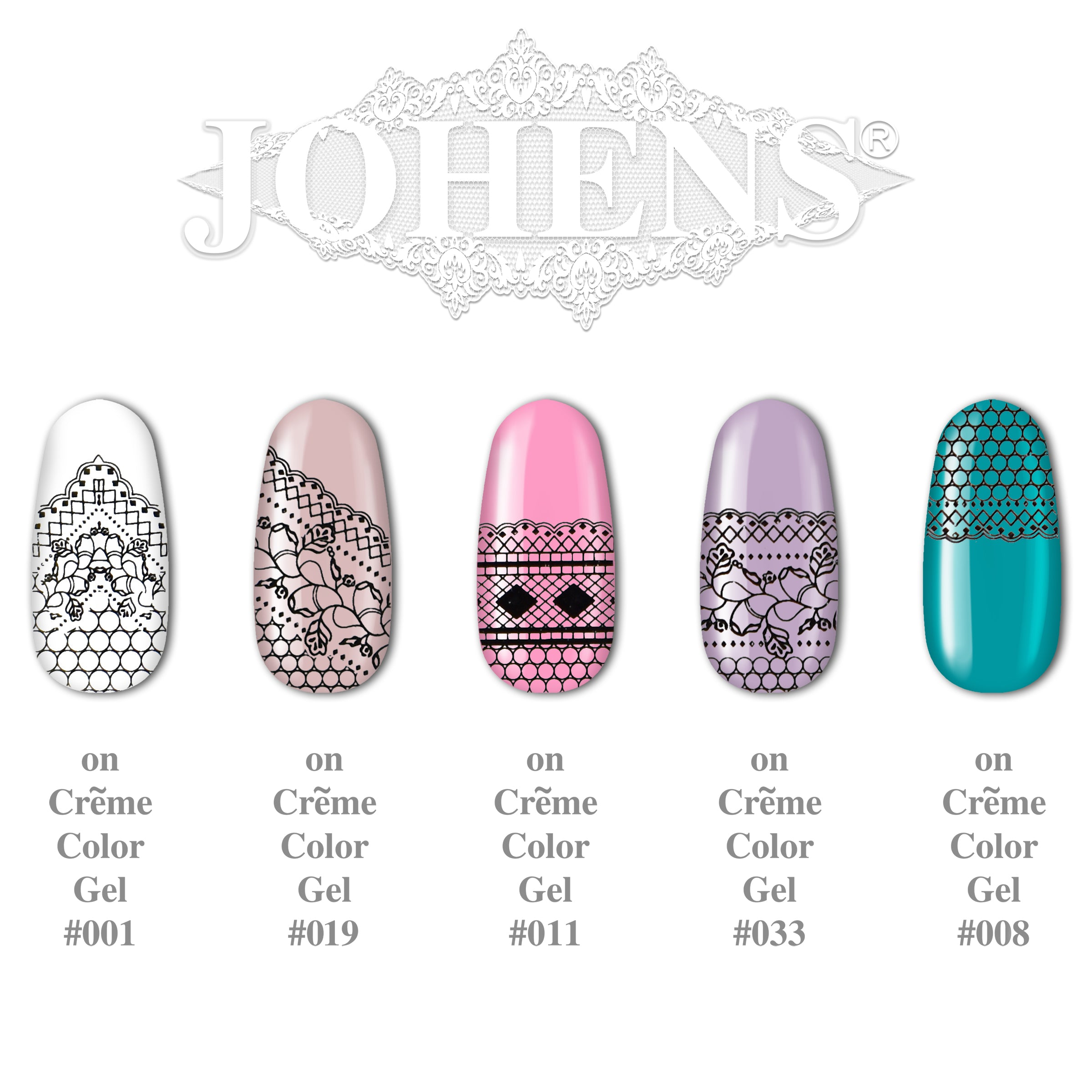 Lace Sticker SJ-010 (water decals)