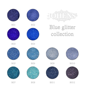 Blue glitter collection 12pcs.