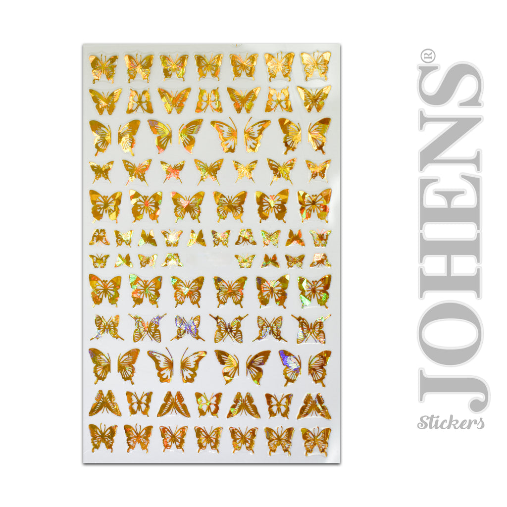 Holographic Gold Butterfly stickers #01