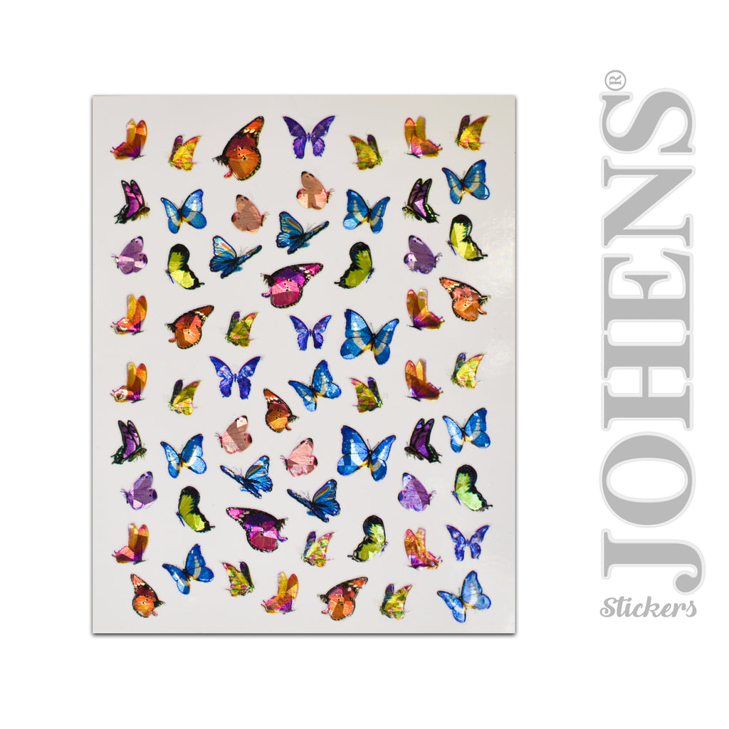 Holographic Butterfly stickers #01
