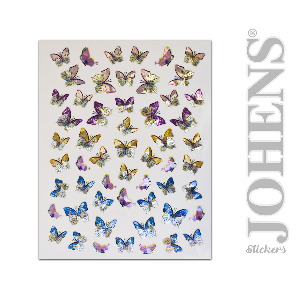 Holographic Butterfly stickers #02