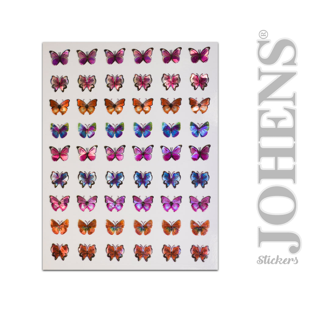 Holographic Butterfly stickers #03