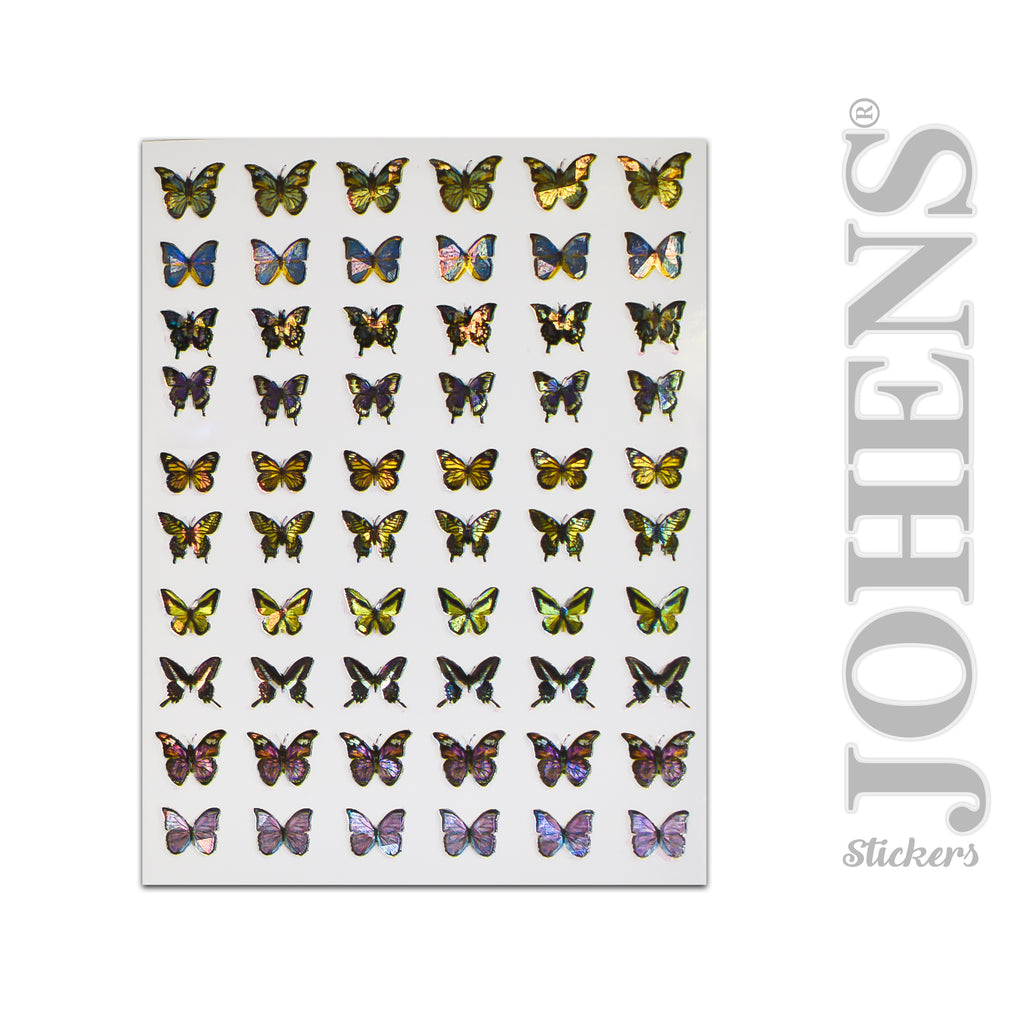 Holographic Butterfly stickers #05