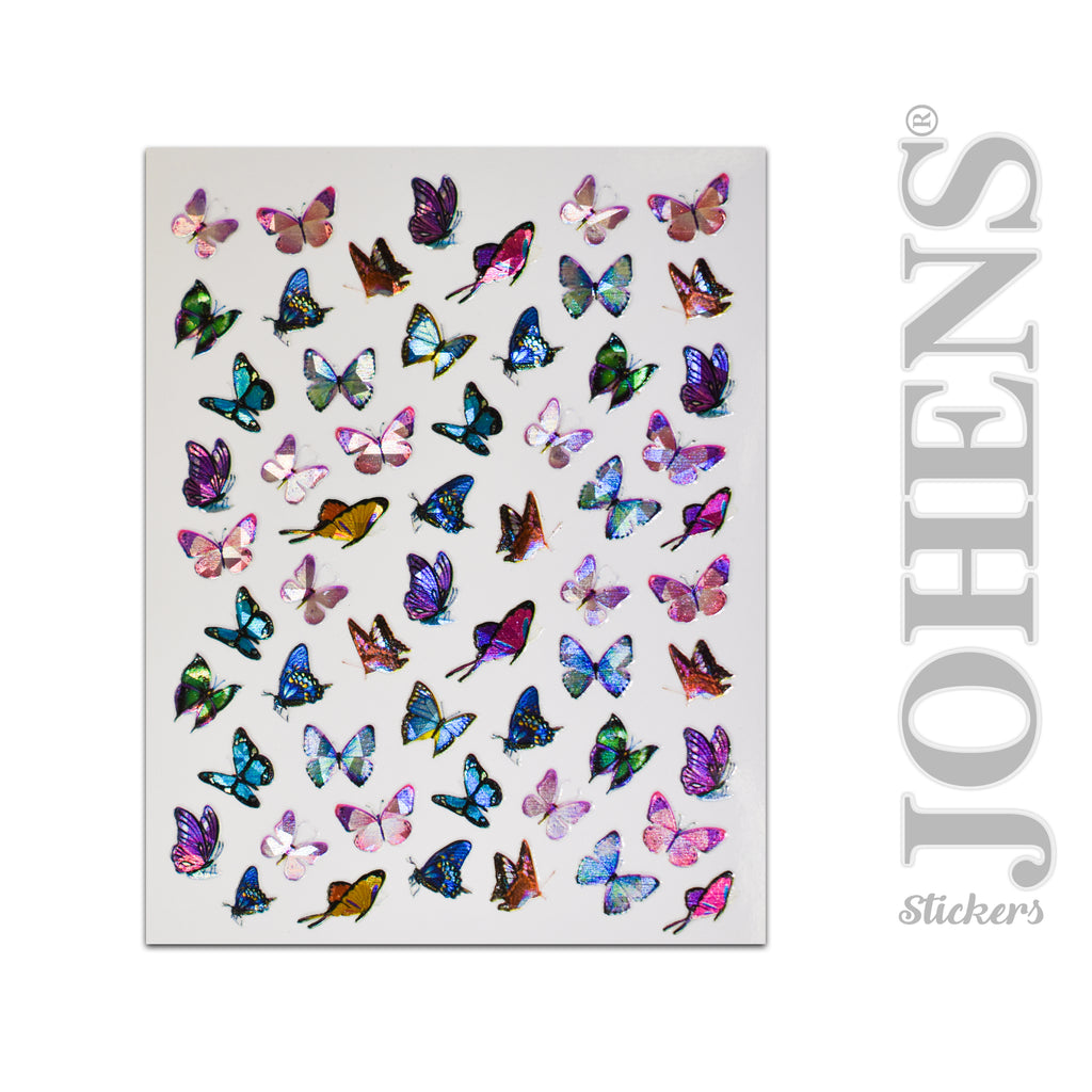 Holographic Butterfly stickers #06