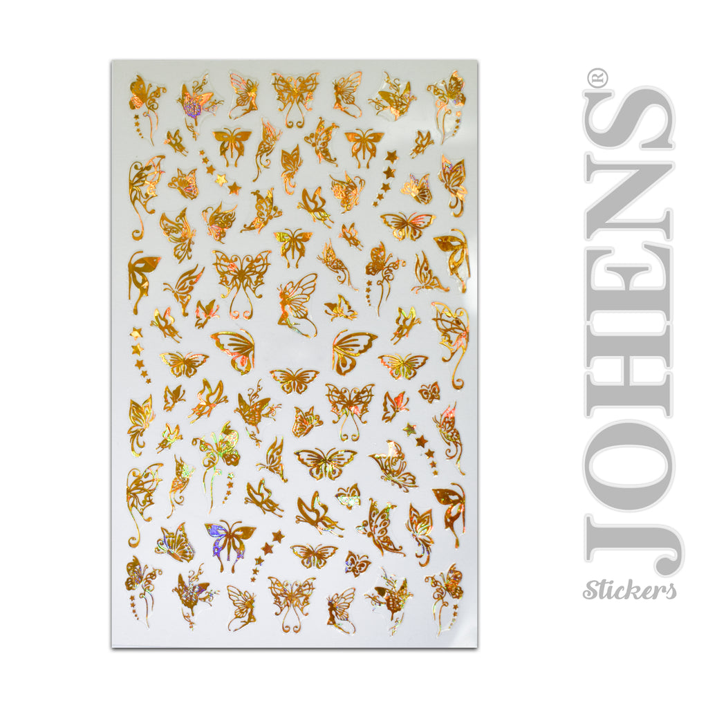 Holographic Gold Butterfly stickers #03