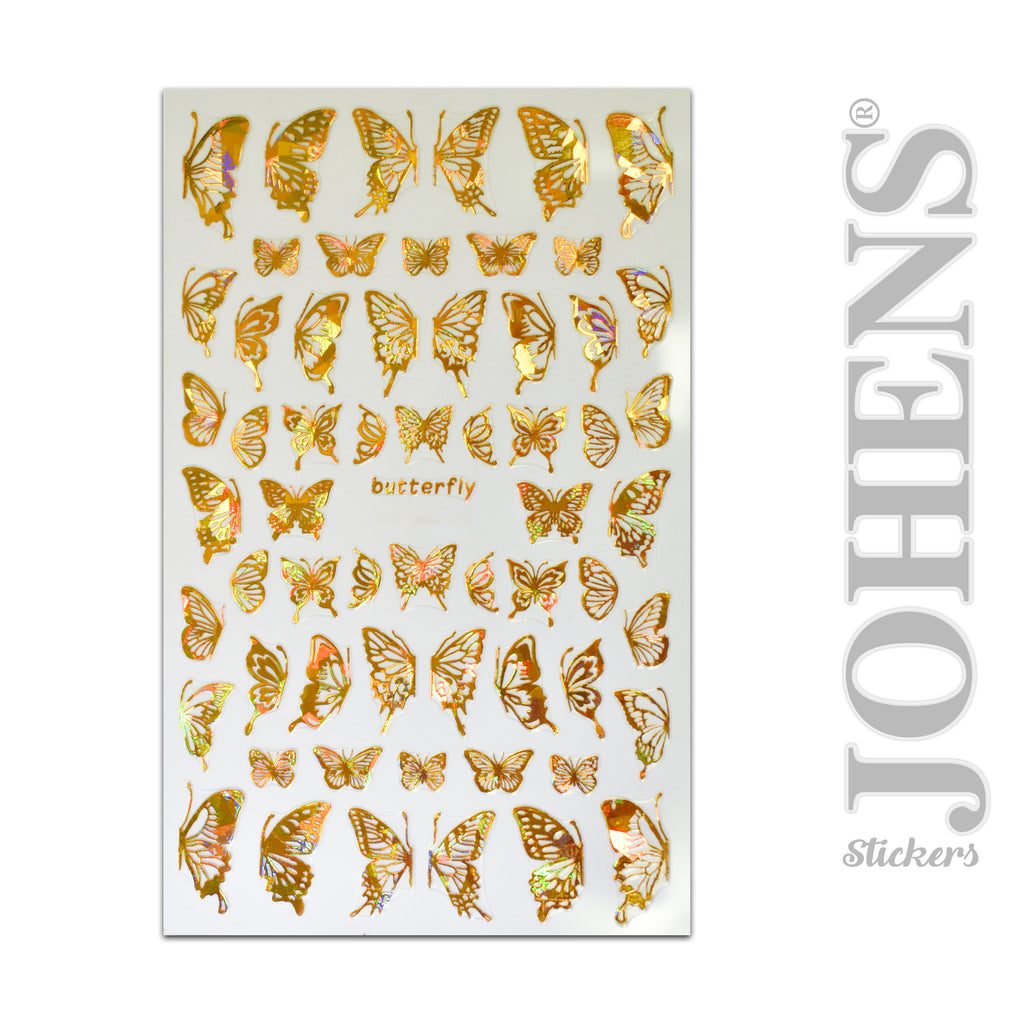 Holographic Gold Butterfly stickers #04