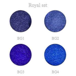 Blue glitter Royal set 4pcs.