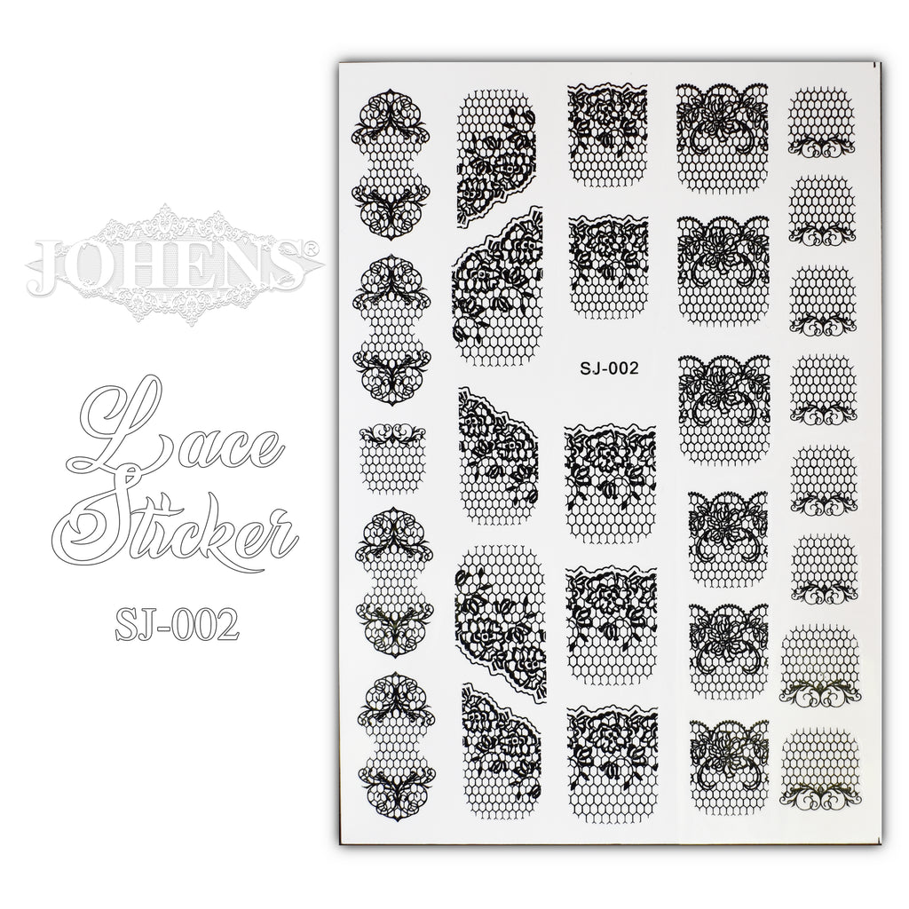 Lace Sticker SJ-002 (water decals)