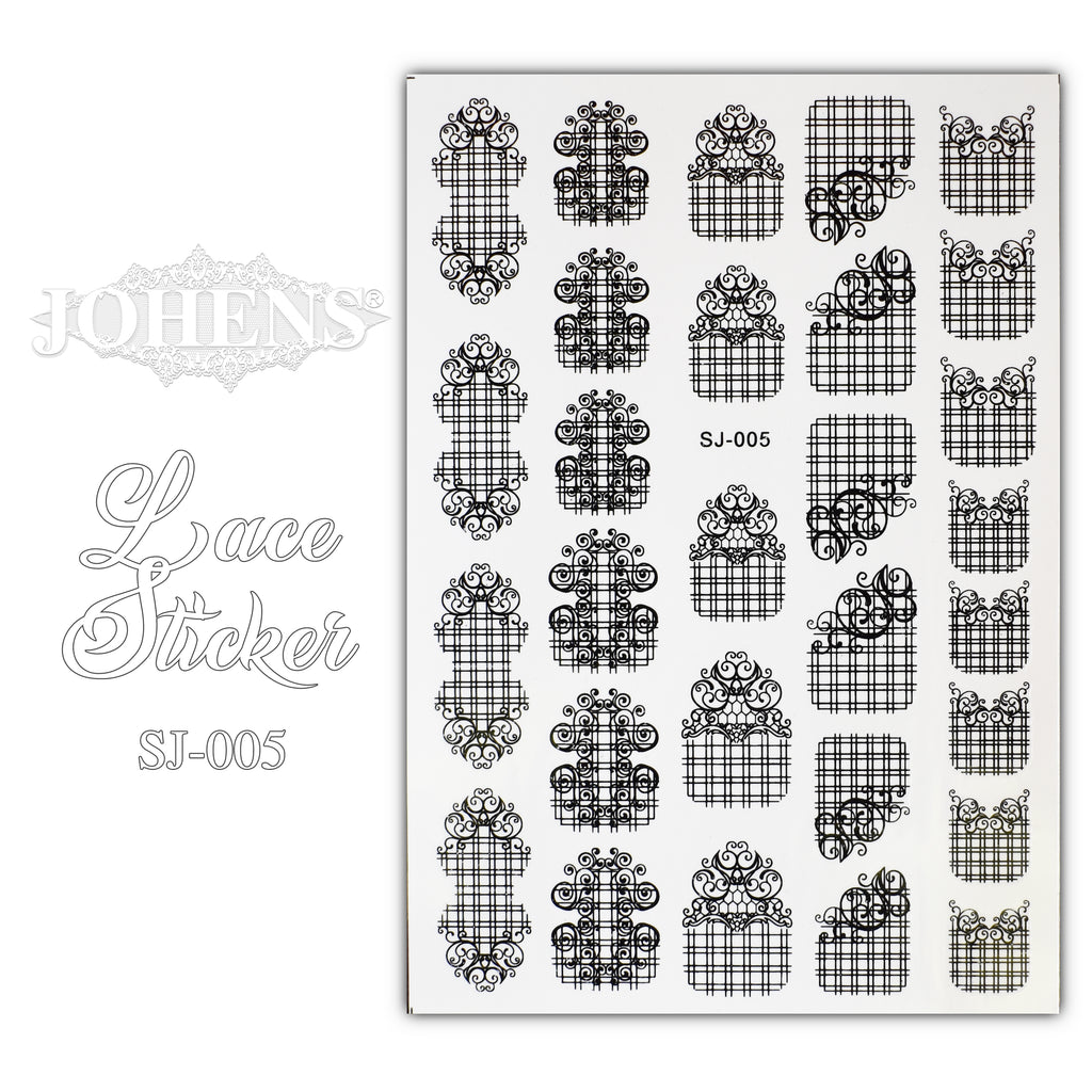 Lace Sticker SJ-005 (water decals)