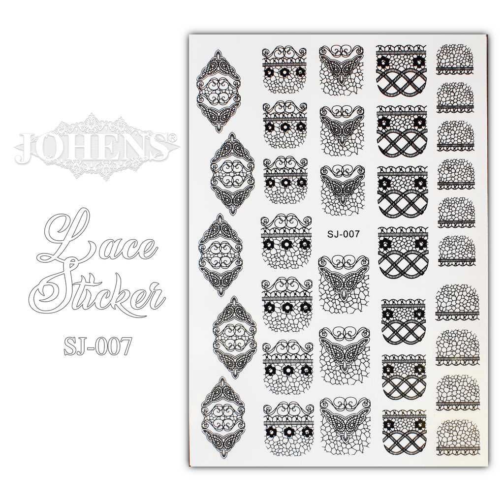 Lace Sticker SJ-007 (water decals)