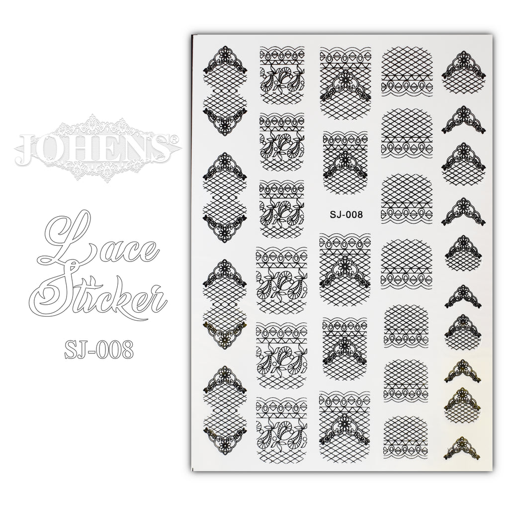 Lace Sticker SJ-008 (water decals)