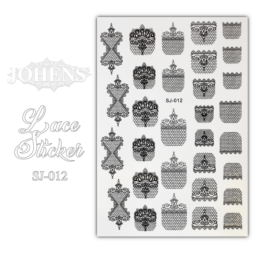Lace Sticker SJ-012 (water decals)