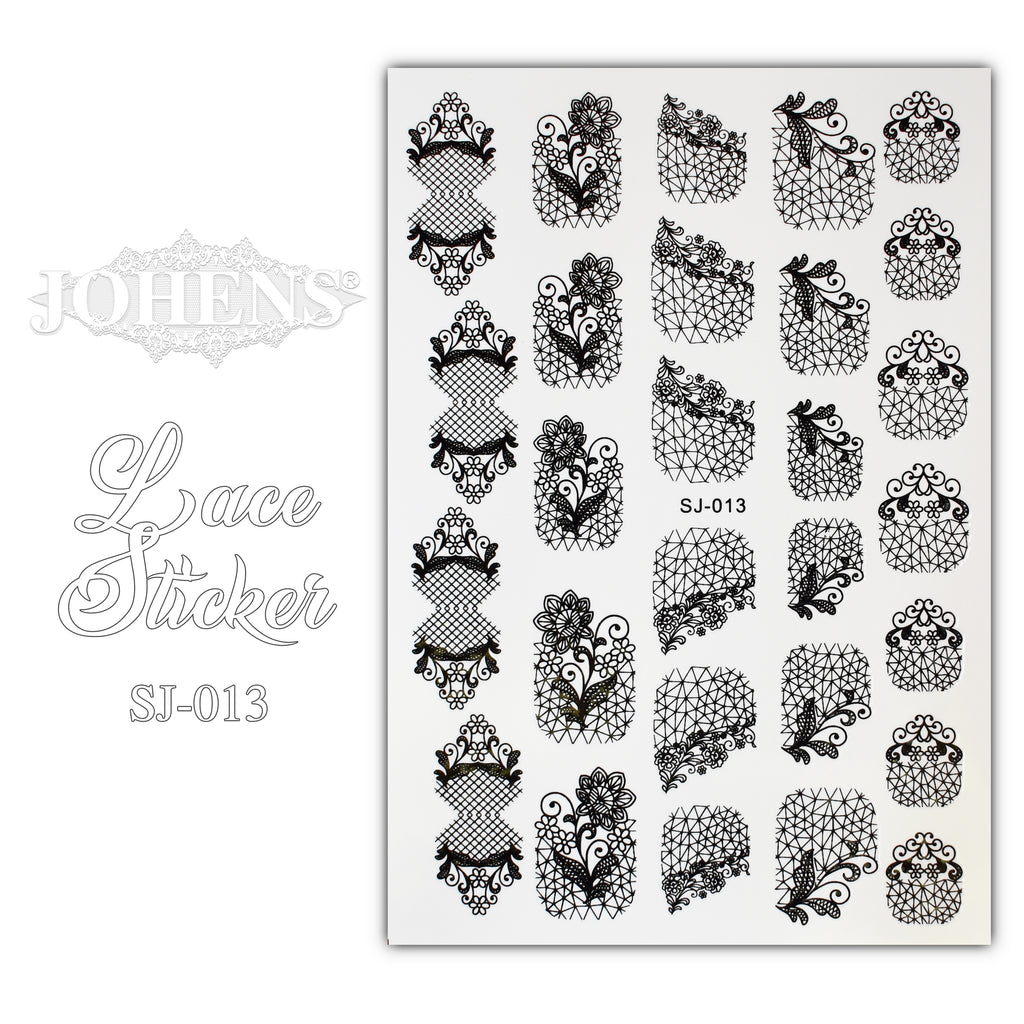 Lace Sticker SJ-013 (water decals)
