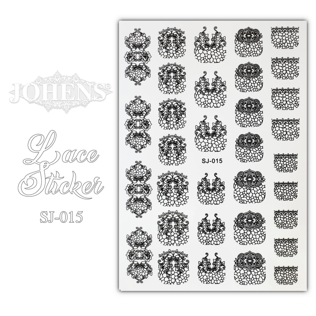 Lace Sticker SJ-015 (water decals)