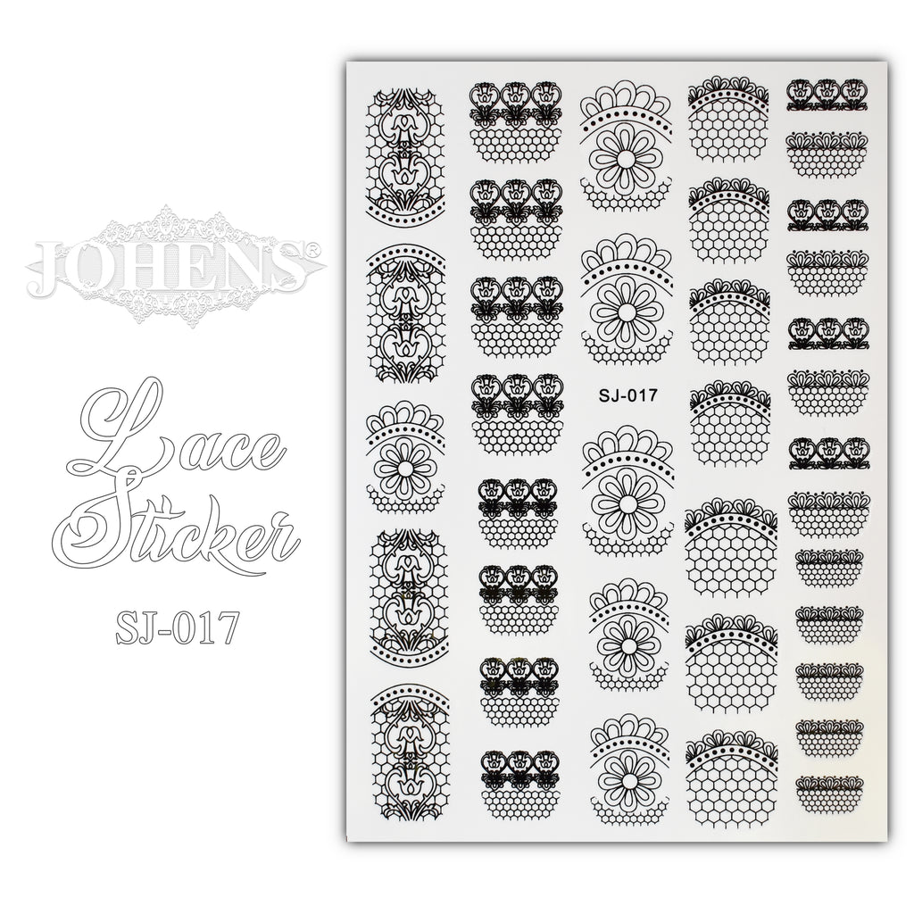 Lace Sticker SJ-017 (water decals)