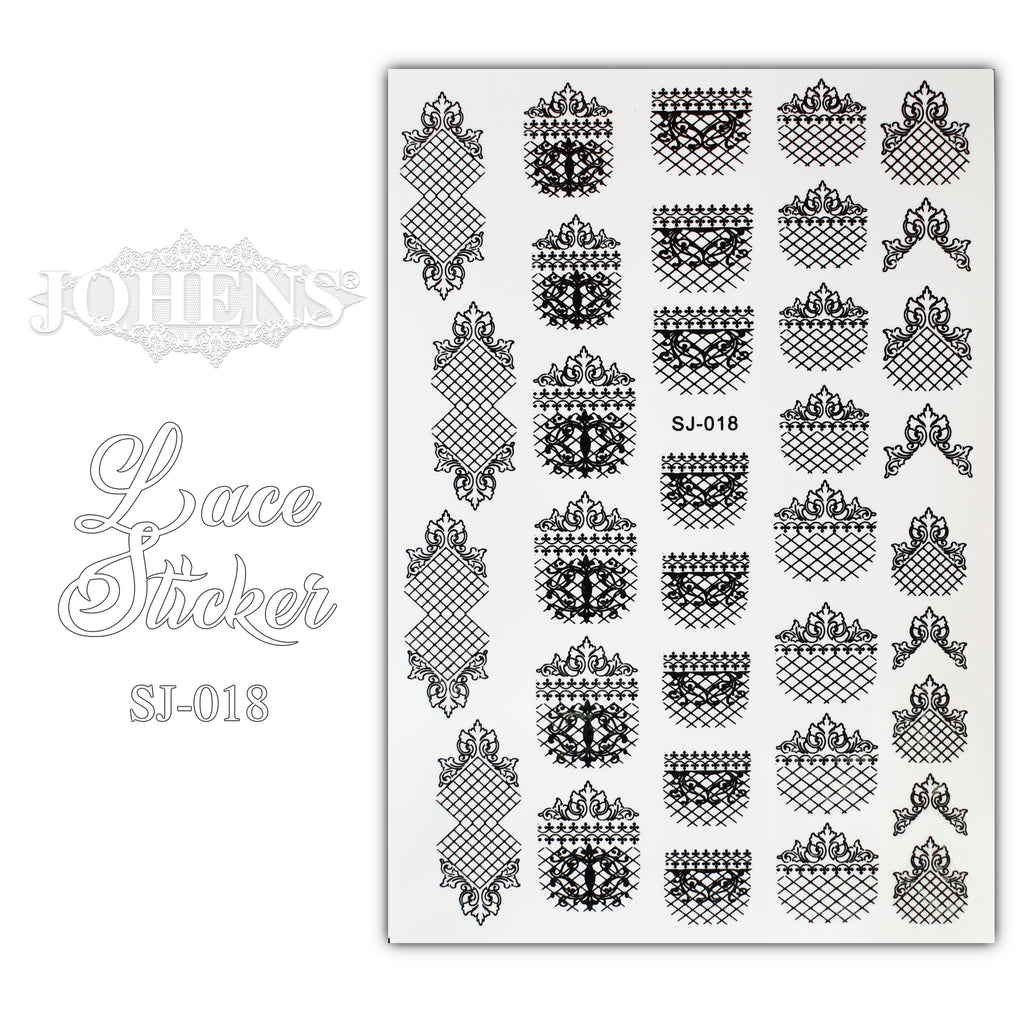 Lace Sticker SJ-018 (water decals)
