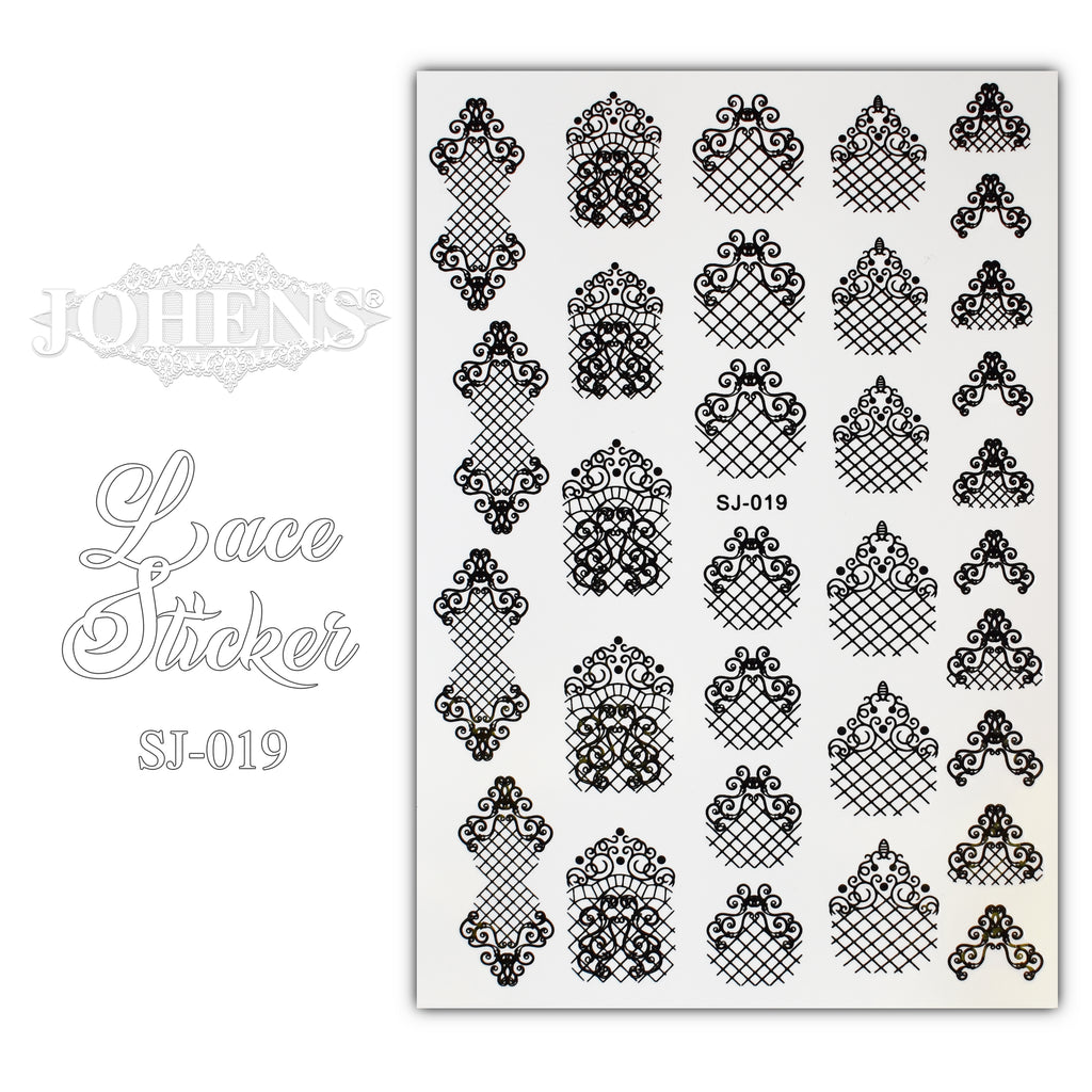 Lace Sticker SJ-019 (water decals)