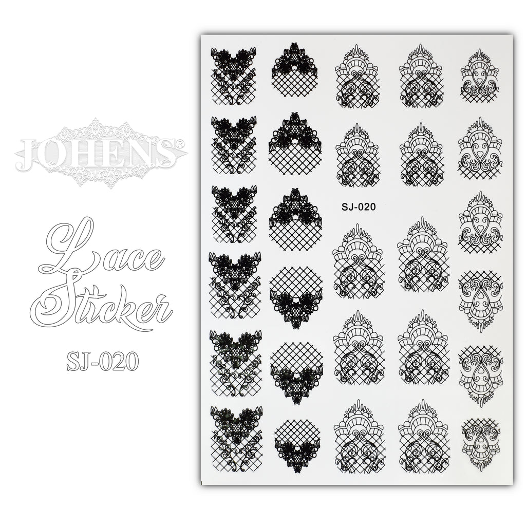 Lace Sticker SJ-020 (water decals)