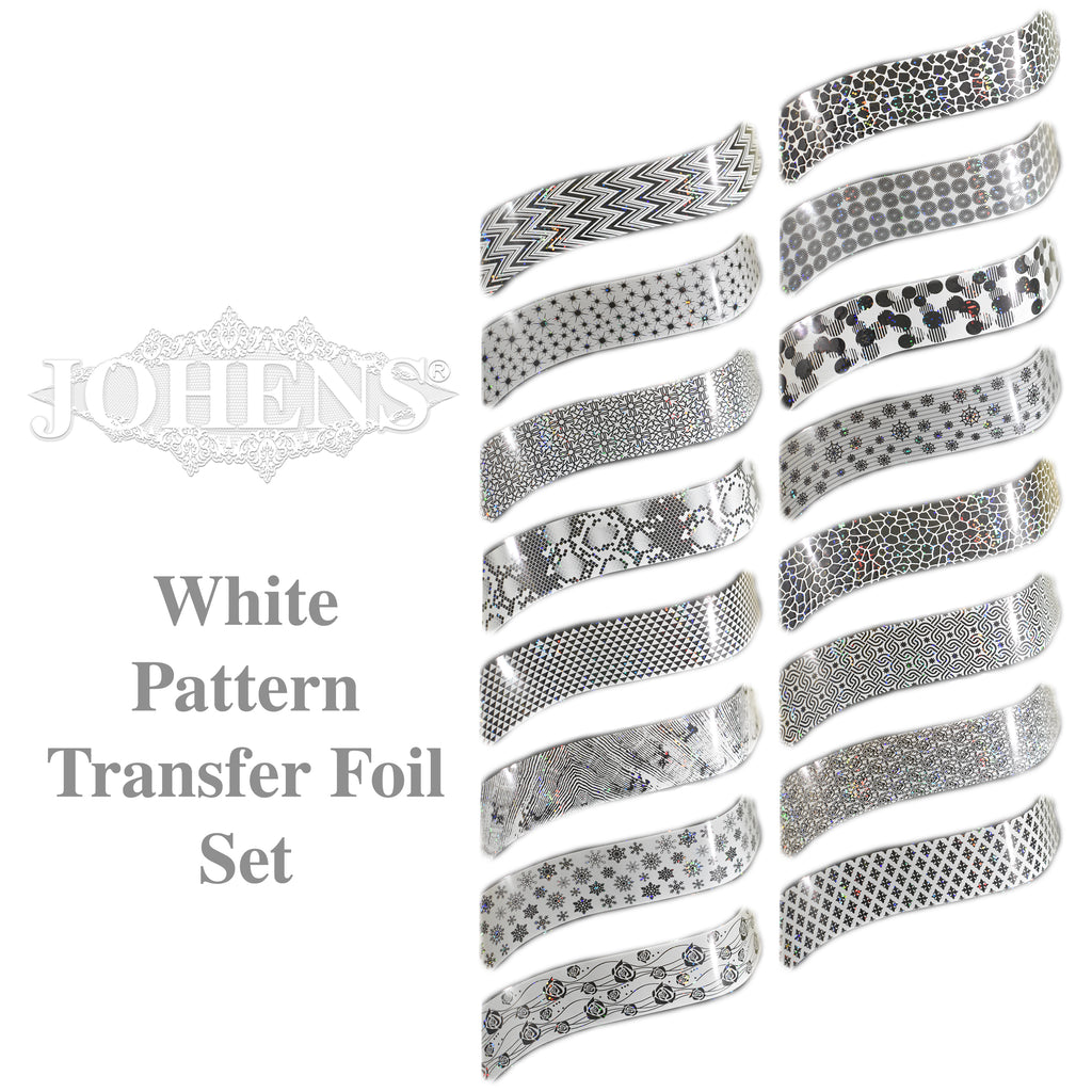 White Pattern Transfer Foil Set