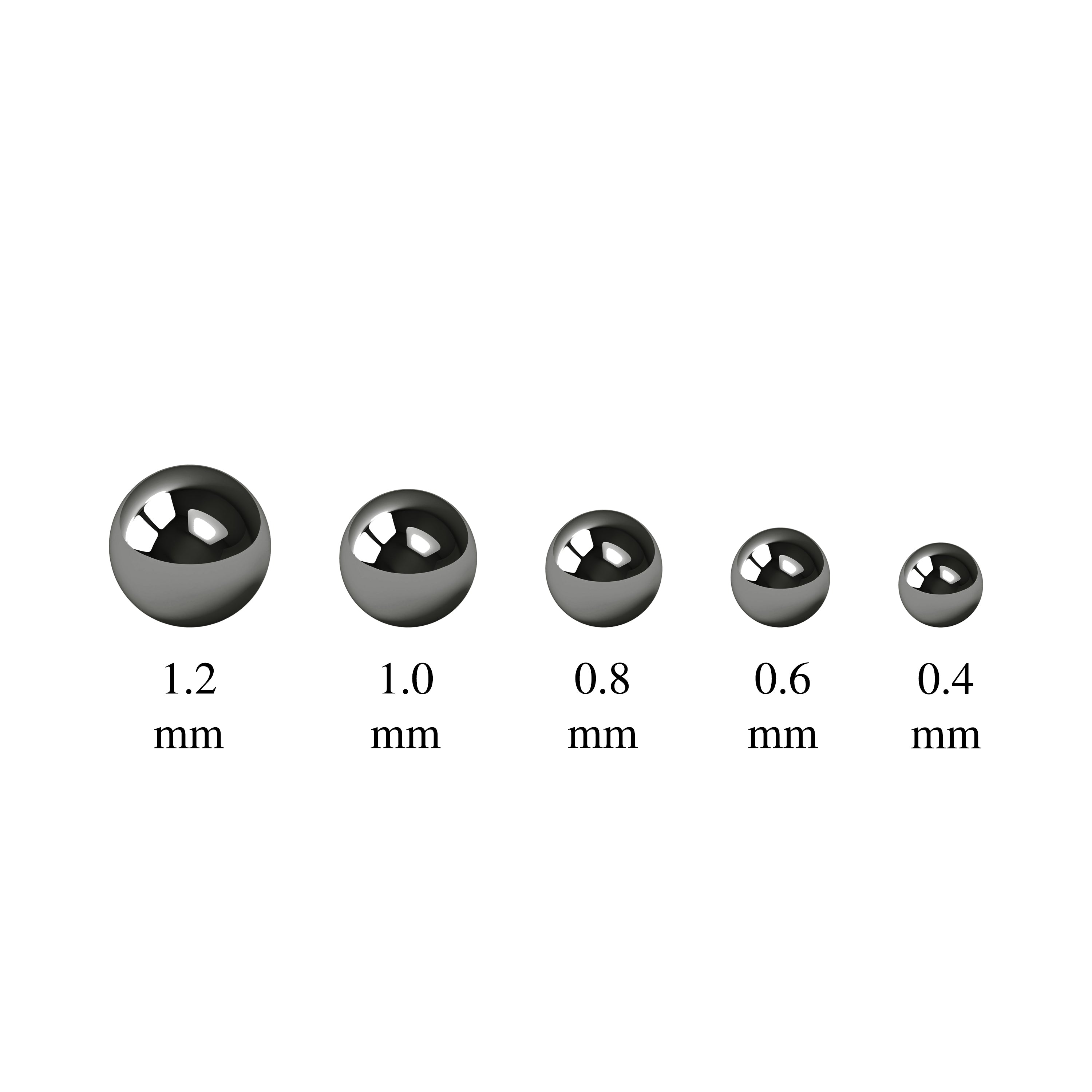 Metal Balls - Black Chrome 1.0mm