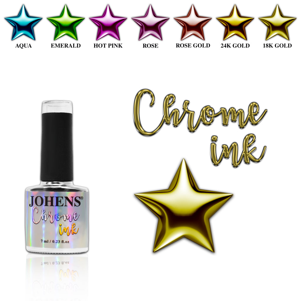 Chrome Ink #007 - 18K Gold