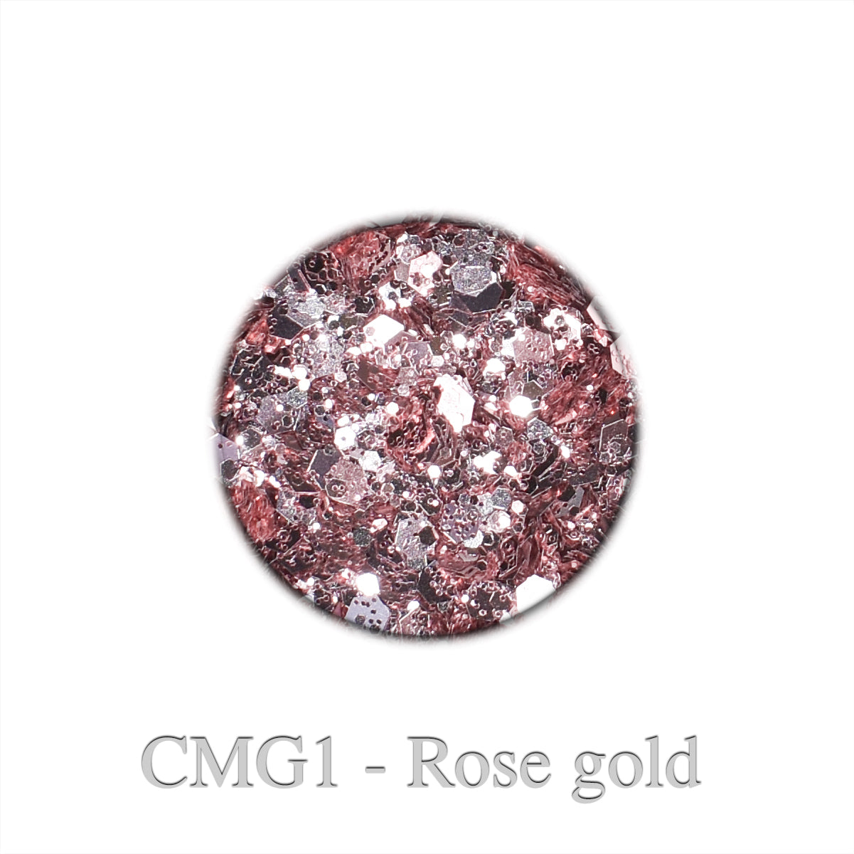Classique Mixed Glitter - Rose gold CMG1