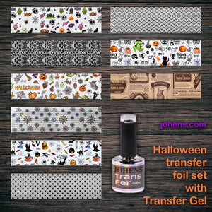 Halloween transfer foil set