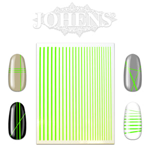 Nail Art Strip Sticker Sheet - Neon Green