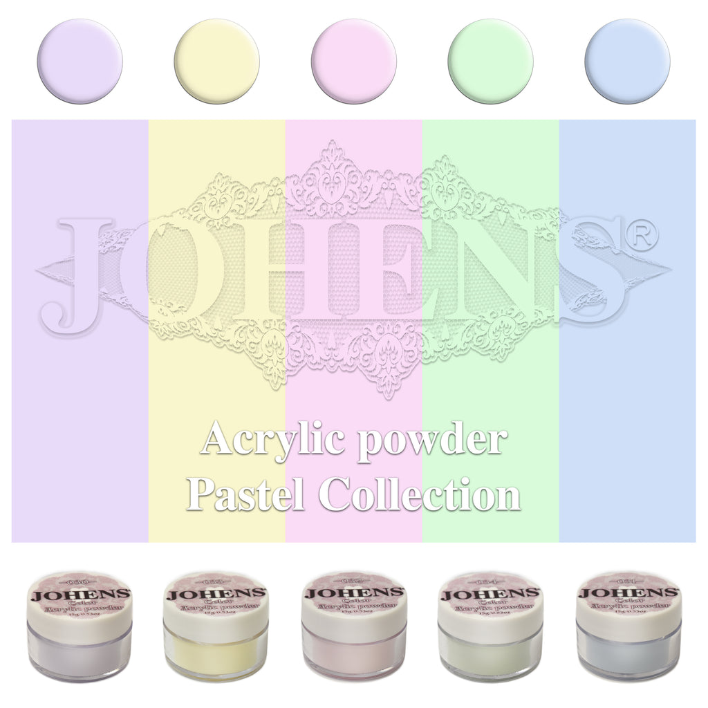 Color Acrylic Powder - Pastel Collection