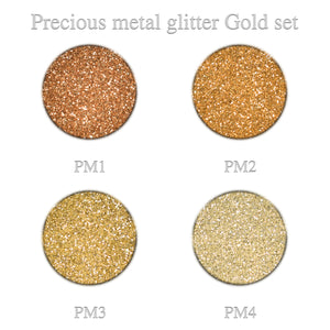 Precious Metal Glitter Gold set 4pcs.