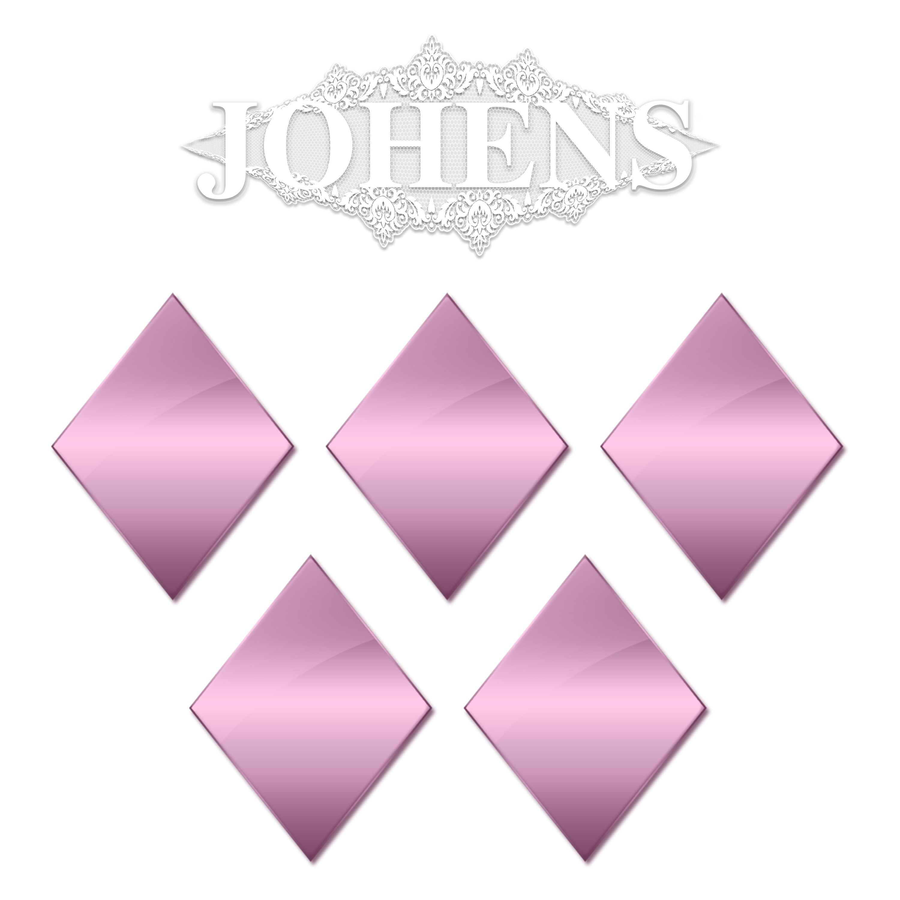 Chrome Rhombus - Pink