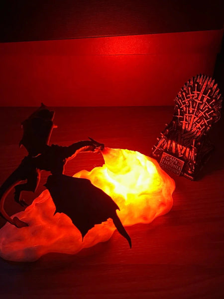 game of thrones lamp dragon