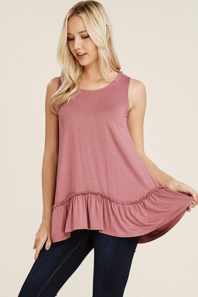 Sleeveless Ruffled Tank