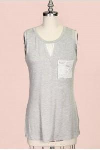 Lace Inset Tank Top